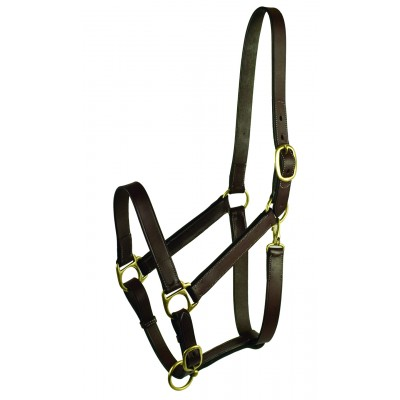 Leather Adjustable Turnout Halter without Snap